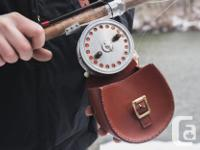 ROD-ON-REEL BLOCK LEATHER CASE - SUPERB REEL PROTECTION