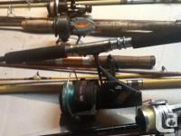 I have about 2 dozen fishing rod/reel combos to sell,