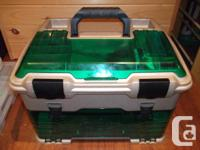 Large Flambeau tackle box filled with lots of lures-