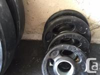 290lbs of weights including the ROGUE OPERATOR bar.