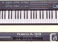 I have The Roland A-33 is a user-friendly MIDI keyboard