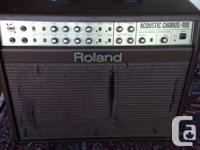 Older Roland acoustic amp available for sale. In superb
