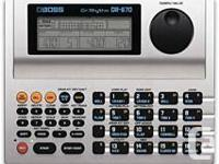Compact DR-670 Dr. Rhythm Drum Machine features