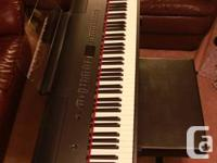 This is a Roland FP-80 digital piano purchased in