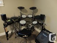 Included in sale: Roland TD-12 V-drum kit Roland PM-30