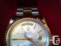 Rolex Day Date Watch, original Swiss made yellow Gold