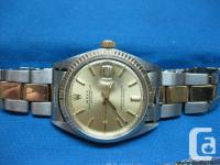 GENT'S ROLEX OYSTER 14kt YELLOW GOLD (STAMPED) &