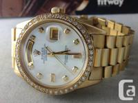 Beautiful men's Rolex president in all 18k gold, This