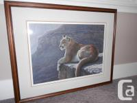 Ron Parker Rim Rock Cougar,1985 sold out signed print.