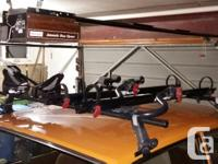 Yakima car roof rack with locks, gutter towers, 2, used for sale  British Columbia