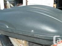 For sale one good condition roof top cargo  box for