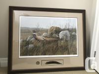 Large framed print bought for $300 from ducks