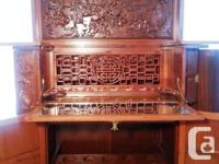 Beautiful Antique Padauk Rosewood Chinese Liquor