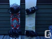 "2014 Rossignol ""one"" snowboard with Burton mission"