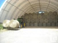 Round bales of hay, great mixture of grasses for
