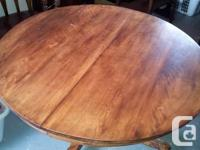 Coffee Table - 41 inch round on casters.  Asking 120.