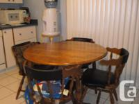 Can be used in a small dining room or in a kitchen area