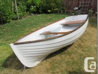 Great 9' fiberglass row boat with built in flotation