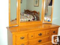 Triple cabinet with folding side mirror, 5 drawer
