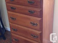 Roxton Maple Low Boy 8 Drawer Dresser With Mirror