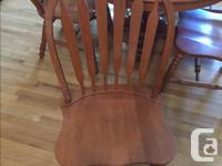 "Roxton Maple Table and 6 chairs Table is 42"" round"