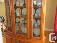 solid maple Roxton china cabinet excellent condition