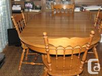 Double pedestal table with two leaves 66 to 86L x 42W
