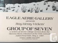 Roy Vickers May 1987 Eagle Aerie Gallery Signed in