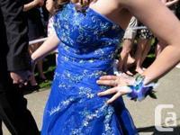 Royal Blue Grad Dress for sale. Worn, surprisingly,