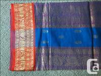 Beautiful silk sari, never worn. From India. Blouse