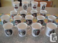 12 Royal Family china mugs. $8 for each mug.   4 Queen