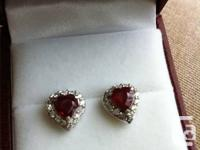 Lovely and special heart shaped ruby and diamond