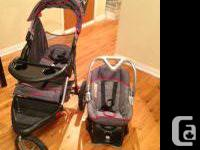 Selling automobile seat, jogging stroller and base for