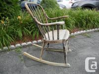 * Rustic antique rocking chair for sale * Made of solid