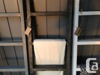 Rustic blanket ladders, hand crafted in the Cowichan