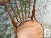 Rustic dining table with 6 chairs Table measures 48 x