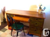 I have an large rustic desk and chair for sale. Made of