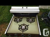 """21"""" x 19 1/2"""" traveler stove with overhead duct,"""