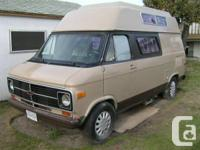 RV Chevy Increased Roof Camper Van great for a youthful