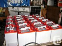 6V and 12V deep cycle, flooded and AGM batteries for