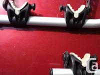 Bike rack for RV ladder fits 1inch diameter ladder.