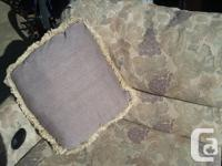 RARELY USED RV SOFA BED WITH RETRACTABLE LAZYBOY STYLE