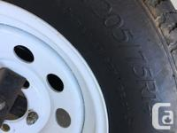 Never used spare tire. Just sat on back of our rv with