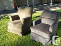 2 RV swivel chairs, (came out of a fifth wheel). Good, used for sale  British Columbia