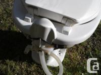 Good used clean porcelain toilet,works fine.I replaced
