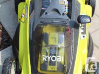 This convenient mower works with the 40Volt Lithium-ion