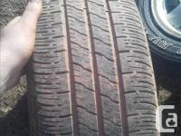 I have two 215/75/15 and two 205/60/15 on rims off a