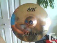 "Near new Sabian 18"" AAX Xplosion quickly crash"