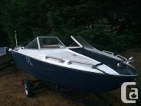 Awesome 16 1/2' Reinell Boat and trailer no outboard
