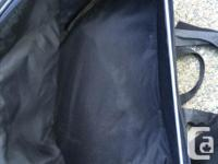 """Black saddle bags in good condition. Dimensions are 16"""""""